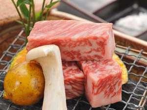 一夕一朝の夕食にはA5仙台牛が並ぶ。この一口を私たちは自然界からの幸せの贈り物という(一例)