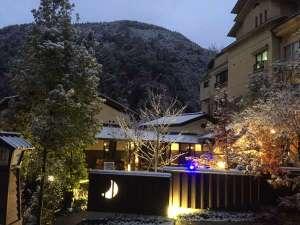 冬の神月 水鳳園を望む。