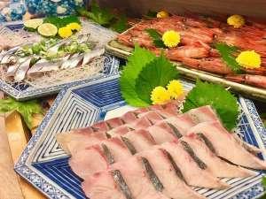 2018年秋ディナーメニュー「本日入荷の鮮魚・近海の縞鯵と秋刀魚、甘海老」
