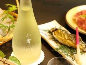 夕食 鮎の塩焼きと地酒【A】
