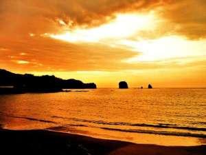 臨海浦海水浴場からの夕日