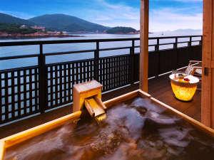 """◆客室露天風呂◆「お好きなときに、気兼ねなく――。」が実現。絶景自慢の""""客室露天風呂"""