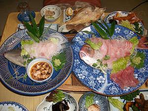 船盛りをメインに魚介類を中心としたお料理です。
