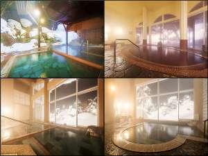◆雪見の風呂は4ヶ所あります!①露天風呂 ②露天内風呂 ③展望大浴場 ④家族風呂