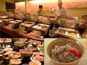 ◆朝から牛丼や温泉玉子など出来立て料理が約35品!朝食バイキング!