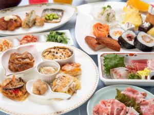 *【夕食バイキング】和洋中韓、いろいろなメニューをお楽しみいただけます。