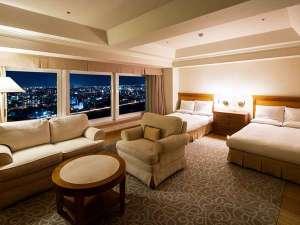 ■【禁煙/25階】スカイデラックスリバービュー<41㎡>最上階からの夜景をお楽しみください☆