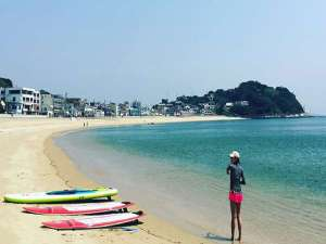 ホテル前のビーチでSUP!