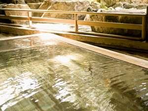 【女性露天風呂】泉質はラドン泉。体の芯から温まります。