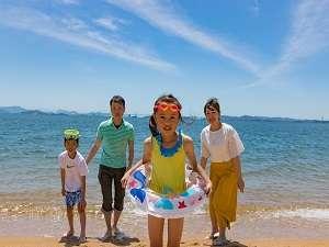 【海水浴】夏といったらやっぱり海!目の前の渋川海岸で楽しもう♪