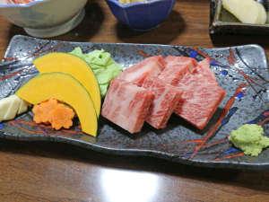*【夕食一例/前沢牛焼肉】