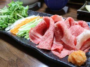 *【夕食一例/前沢牛しゃぶしゃぶ】