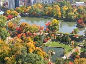 人気のパークビュー秋の紅葉が美しく彩ります(例年の紅葉時期:10月中旬~11月初旬)