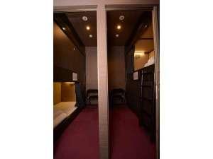 スペリアシングルはこのように個室になっております。