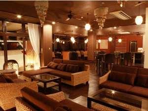 バリ風のカフェ