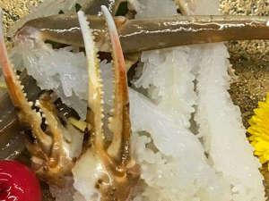 【カニ刺し】花咲きの刺身は活カニの証。越前ガニの美味しい冬に咲く花