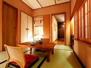 【客室】温泉露天風呂付き和洋室A(3名定員)36㎡一例 落ち着きのあるゆったりとした空間