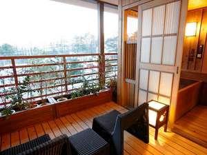 客室露天風呂「冬景色」