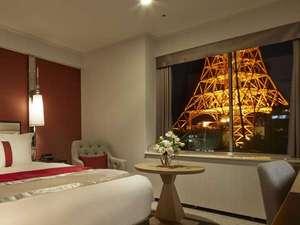 客室から望む東京タワーは圧巻