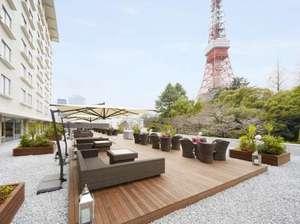カフェ&バー タワービューテラス(3F)東京タワーをバックにした絶景スポット。