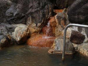 ■【温泉・露天岩風呂】1,200年以上の歴史を持つ秘湯を源泉かけ流しで楽しめる露天風呂です。