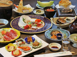 ~お料理一例~【岩内満喫】刺身・煮鮑・踊り焼…3種の鮑料理♪たっぷり海鮮和食膳コース