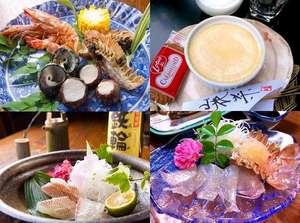 旬の海の幸を贅沢に使ったお料理やオリジナルスイーツ『金のプリン』がおススメ
