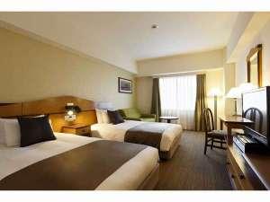 【ツインルーム】ベッド幅120cm×2台 お部屋の広さ25.5平米