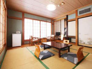 ■【客室8~10畳】お部屋にはテレビ、冷蔵庫、お茶セットをご用意しております♪
