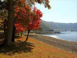 十和田湖畔の紅葉