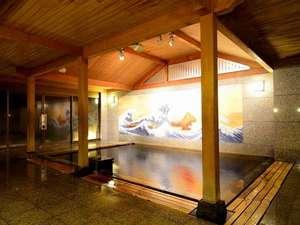 ◆温泉大浴場/落ち着いた雰囲気とどこか懐かしい壁画の和風風呂。