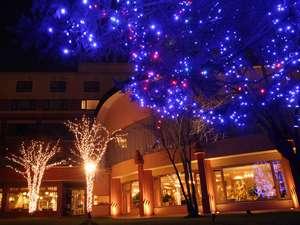 ◆中庭の彩り鮮やかなイルミネーション※冬季限定