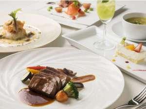 レストランバードウォッチカフェのコース料理(一例)