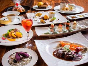 【ZEN・一例】北海道食材を使ったフレンチ&イタリアンのフルコースです。