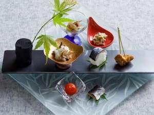 【もりの風茶寮・夏】前菜は北海道ニシンや岩手ポークなど旬の山海の幸を多彩に。
