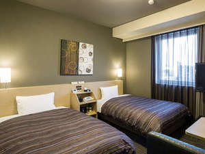 スタンダードツインルーム<ベッドサイズ110×200(cm)>全室加湿機能付き空気清浄機 完備♪