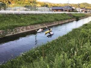 カヌー体験できます