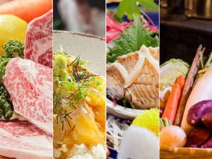 和洋80品の料理が並ぶ夕食バイキング。