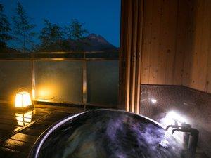 【露天風呂付き客室】壮大な由布岳の景色を眺め眼も身体も心もリフレッシュ♪