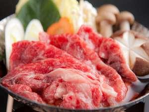 大人気【豊後牛すきやき】!肉の旨味が口の中で広がります♪大分県は椎茸も有名なんですよ~こちらも美味★