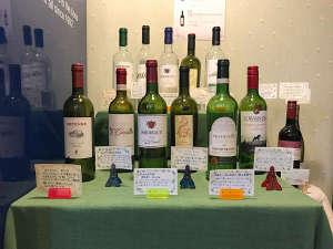 *ワイン各種/ボトルのみとなりますがフロントにて販売しています。
