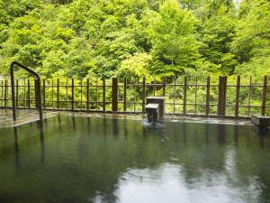 緑に囲まれた女性露天風呂。