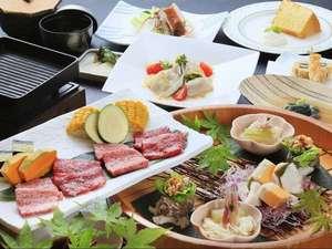 【ご夕食一例】『前沢牛と短角牛のサーロイン食べ比べ』/メイン料理グレードアップ※イメージ