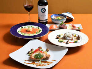 【夕食一例】ディアバレー自慢の手造り料理をお楽しみください