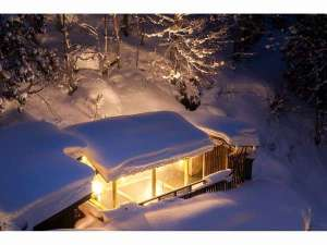 雪の『月見の湯』1月中旬