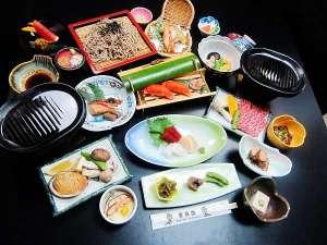 Wメイン料理☆和牛とアワビの陶板焼き☆選べる鍋料理付きコース