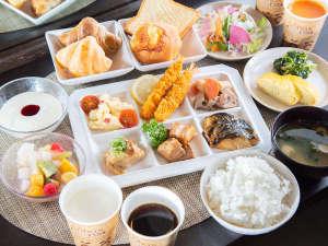 無料健康朝食で元気いっぱい!