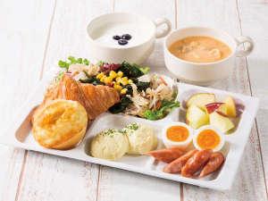 健康に配慮したコンフォートホテルのバランス朝食をぜひお召し上がりください。