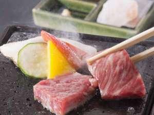 【趣肴膳】松阪牛の陶板焼き(チョイスメニューの中の一例)