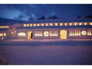 日本一の積雪を利用した雪祭り『雪旅籠(ゆきはたご)の灯り』